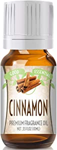 Cinnamon Scented Oil by Good Essential (Premium Grade Fragrance Oil) - Perfect for Aromatherapy, Soaps, Candles, Slime, Lotions, and More!