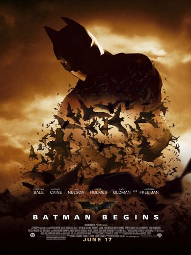 POSTER-BATMAN BEGINS ORIGINAL DOUBLE-SIDED POSTER