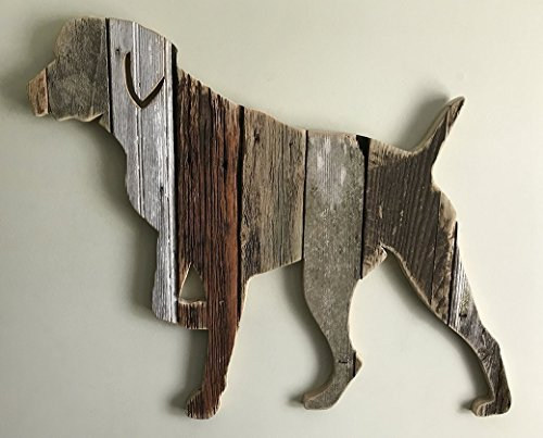 German Shorthaired Pointer pose5 silhouette made with reclaimed wood by Paw-Lick Design