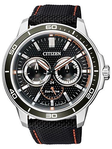 Citizen Men's Eco-Drive BU2040-05E Black Nylon Quartz Fashion Watch