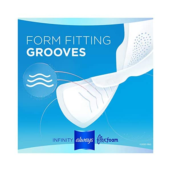 Always Infinity Feminine Pads for Women, Size 3, Extra Heavy Flow Absorbency, with Wings, Unscented, 28 Count, Pack of 3