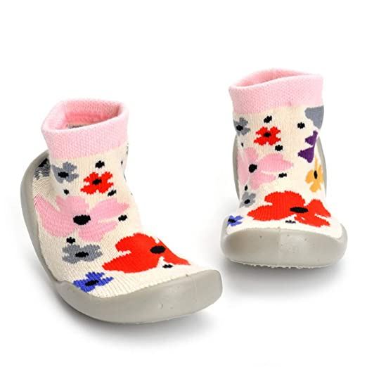 ce21a9861bf7d Zapatos de educación temprana para niños de otoño e invierno de 1 a 3 años  Zapatos de niño de interior para bebés Calcetines largos y cálidos  Amazon. es  ...