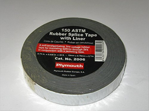 - (Qty 2) 150 ASTM Rubber Splice Tape with Liner Plymouth #2006 3/4