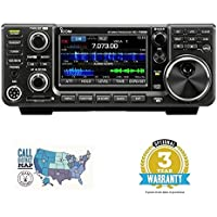 ICOM IC-7300 100W HF Transceiver W/ 3 YEAR Warranty and Ham Guides TM Pocket Reference Card Bundle Bundle