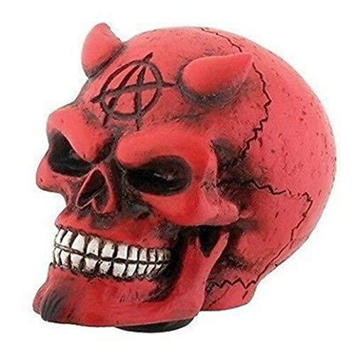 Ky & Co YK Red Horned Devil Demonic Skull Car Shift Knob Figurine Auto Styler Accessory