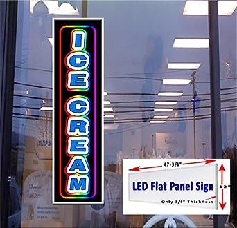 amazon com led flat panel light box sign ice cream 48 x12 window