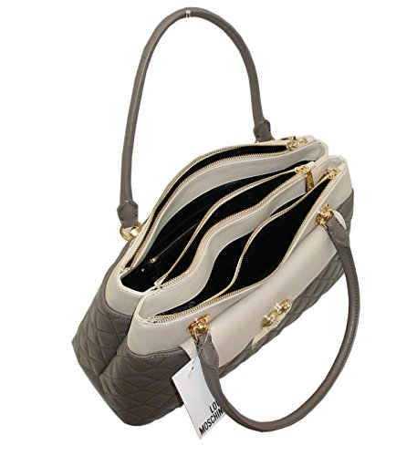 Borsa Love Moschino SHOPPER HANDBAG JC4004 women trapuntato multitasche BICOLORE