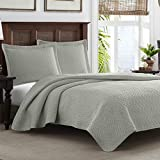 Best Comfort & Light Weight Bedding Collection Coverlet Set of 2 - Full / Queen Size, Pelican Gray Color