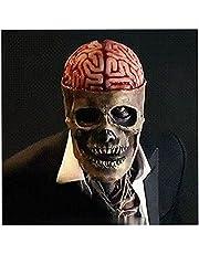 Skull Mask, Halloween masker, griezelig decoratief skelet Halloween masker voor volwassenen, horrorzombiekostuum, schedelhoofd, prop voor volwassenen, party, cosplay