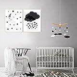 EVERLOVE   Montessori Hanging Mobile - Black and