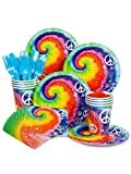 Costume Supercenter BB102246 Tie Dye 60S Party Standard Kit Serves 8 Guests