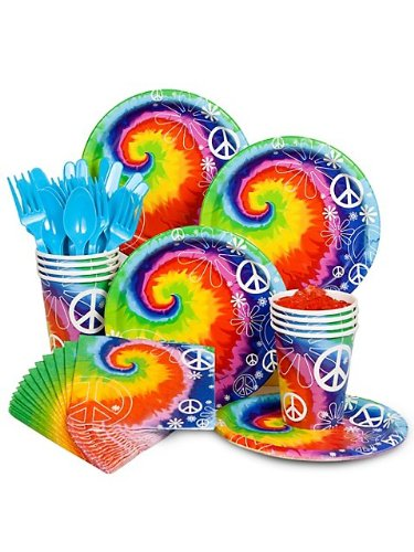 [Costume Supercenter BB102246 Tie Dye 60S Party Standard Kit Serves 8 Guests] (Sixties Costumes Ideas)