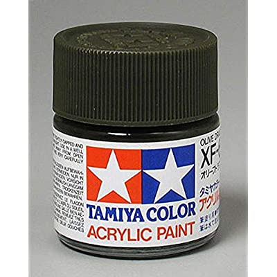 Tamiya America, Inc Acrylic XF62, Flat Olive Drab, TAM81362: Toys & Games