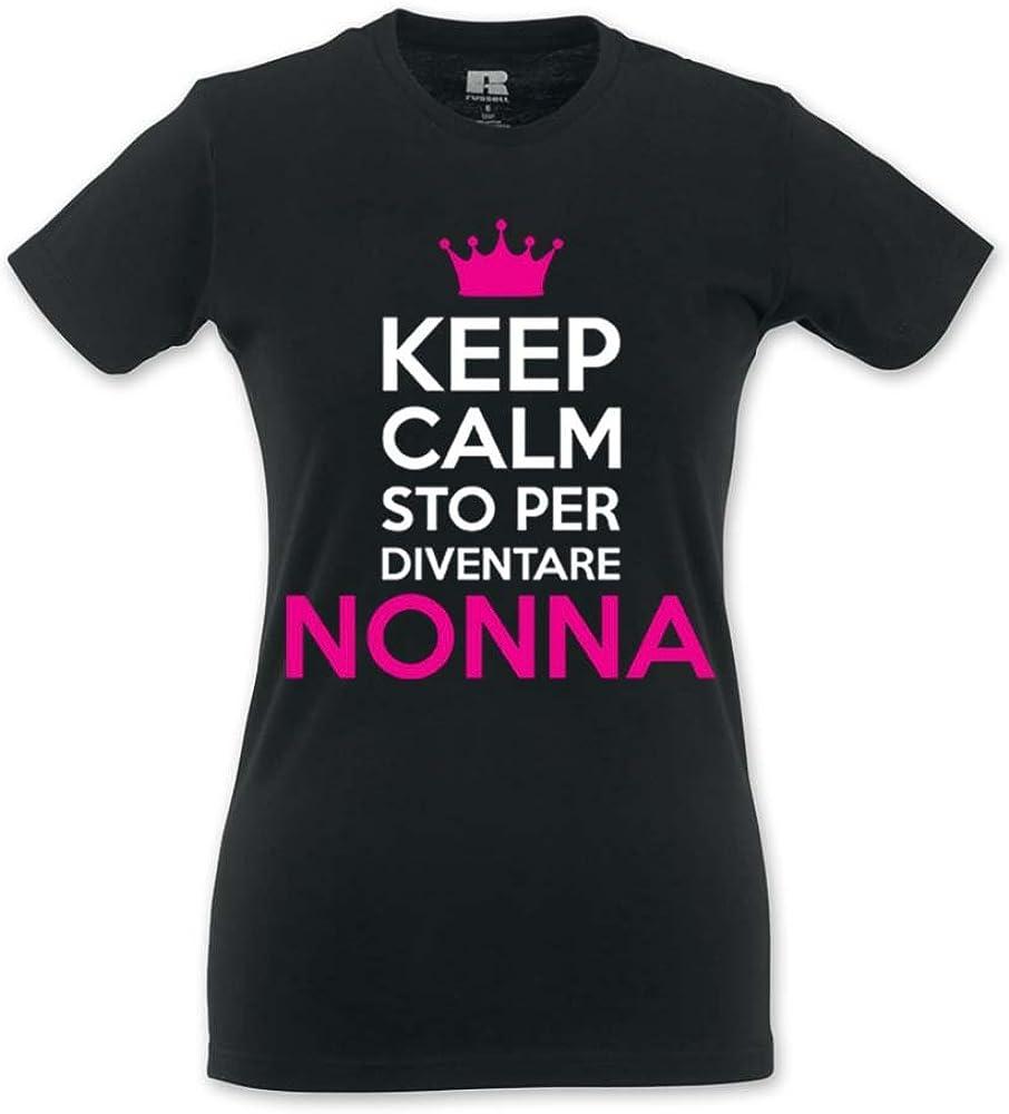 Babloo T-Shirt Donna Idea Regalo Festa dei Nonni Keep Calm