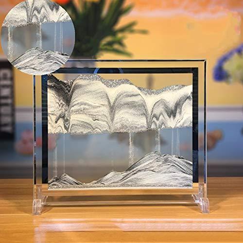 Yuanlar Moving Sand Art Picture Sandscapes Desktop Art Toys Christmas Birthday Children Gifts (Silver) (Art Sand Christmas)