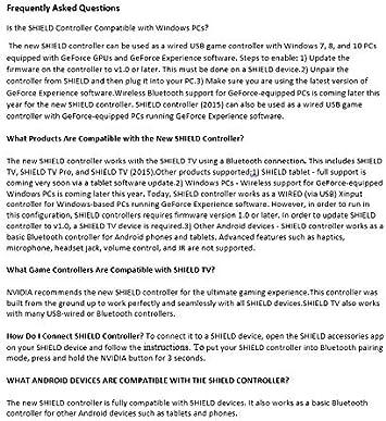 Nvidia Shield TV Controller - Mando Gaming para Nvidia Shield TV, Color Negro: Amazon.es: Informática