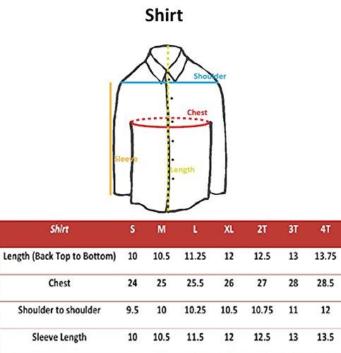LEADERTUX Baby Boy Formal Tuxedo Suit White Button Down Dress Shirt Color Bow tie Sm-4T (4T, Burgundy) by LEADERTUX (Image #3)