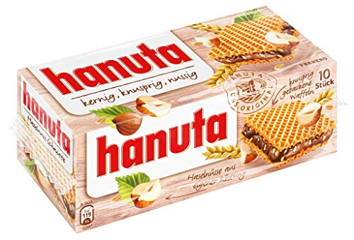 Chocolate Ferrero Candy - Ferrero Hanuta Wafers Filled with Hazelnut Cream (10 Pcs Box)