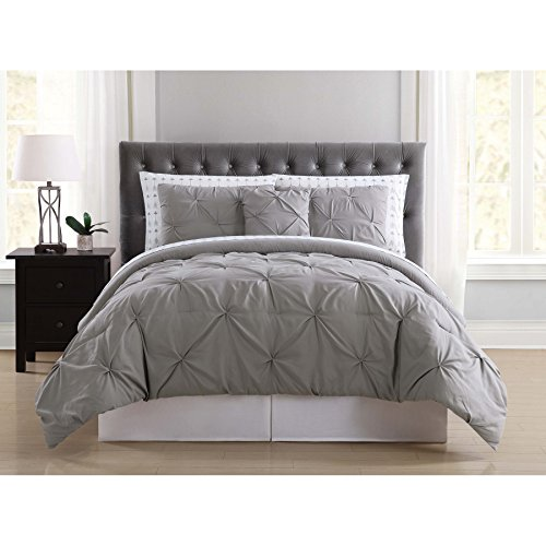 Truly Soft Everyday BIB1969GYQAR-32 Pleated Bed in a Bag, Queen, Arrow Grey ()