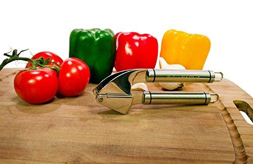 Splendid Chef Garlic Press - Premium Stainless Steel Heavy Duty Garlic and Ginger Press