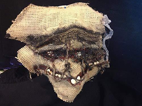 creepy mask scary mask burlap scarecrow mask dark