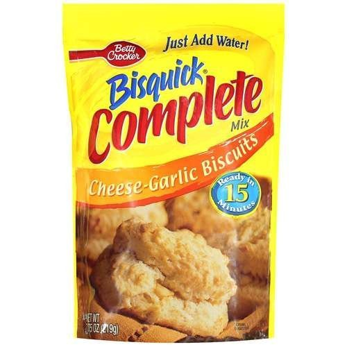 - Betty Crocker, Bisquick, Complete Mix, Cheese Garlic, 7.75-Ounce Pouch (Pack of 6)