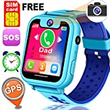 Free SIM Card Smart Watch for Kids Girls Boys GPS Watch Phone 1.54' Touchscreen Child Smartwatch Learning Toys with Flashlight SOS Anti-Lost Camera Alarm Christmas Holiday Toys Birthday Gift