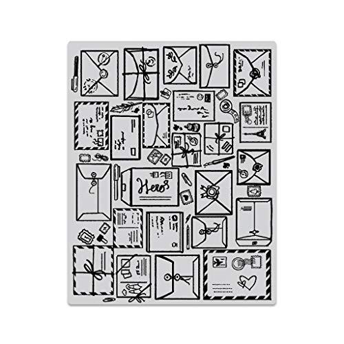 Hero Arts CG750 Cling Stamp Mail Jumble - Arts Stamps Hero Cling