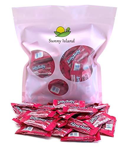 Sunny Island Bulk - Wonka Laffy Taffy Strawberry Candy Chews, Individually Wrapped Jokes Taffy Candy Bar Fun Size, 2 Pounds Bag (Best Laffy Taffy Jokes Of All Time)
