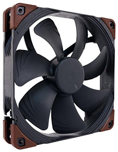 Noctua NF-A14 iPPC-3000 PWM, 4-Pin, Heavy Duty Cooling Fan with 3000RPM (140mm, Black) (Best Static Pressure Fans 140mm)
