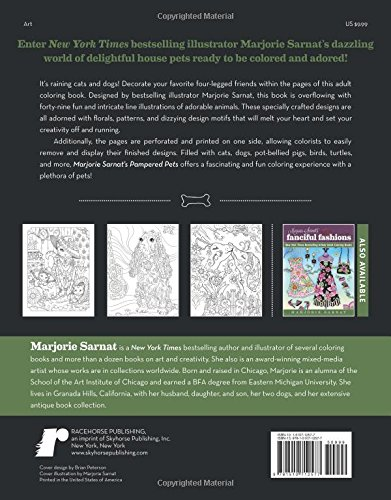 Amazon Marjorie Sarnats Pampered Pets New York Times Bestselling Artists Adult Coloring Books 9781510712577 Sarnat