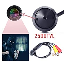 Eachbid CCTV Home Security Small Camera 3.7mm Lens 2500TVL Digital CMOS Covert Mini Camera with 1280 x 960P Smallest Cone Cam Pinhole Video Camera for Home Surveillance