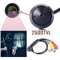 Eachbid CCTV Home Security Small Camera 3.7mm Lens 2500TVL Digital CMOS Covert Mini Camera with 1280 x 960P Smallest Cone Cam Pinhole Video Camera for Home Surveillance