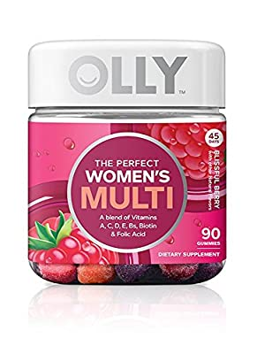 Olly Restful Sleep Gummy Supplement, with MELATONIN & L-Theanine, Chamomile; supports a healthy sleep cycle; Blackbery Zen; 50 count, 25 day supply (packaging may vary).