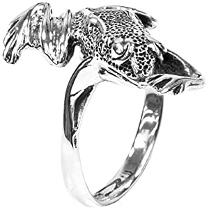 Frog Wrap - Silver Ring