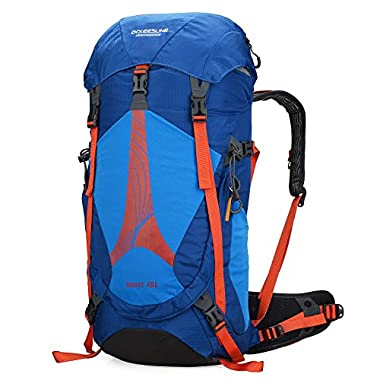 Doleesune 42l Internal Frame Pack for Women Camping Travel Outdoor Backpacks Hiking Daypacks Climbing Backpacking Bag Waterproof Mountaineering 1311 (1381-blue)