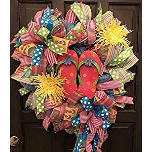 Flip Flop Wreath, Spring Wreath, Summer Wreath, Lazy Days of Summer Wreath, 28