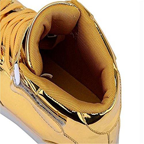Scarpe Luci Accendono Le Unisex Uomo con Luminosi Scarpe Adulto Running Sneakers LED DoGeek Oro SPzwxc