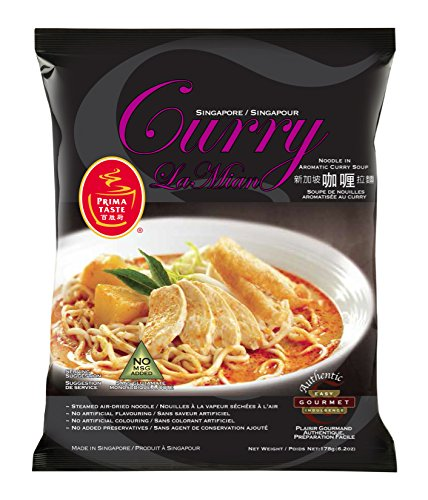 Prima Taste Curry La Mian, Singapore, 178g/6.2oz,(Pack of 12)