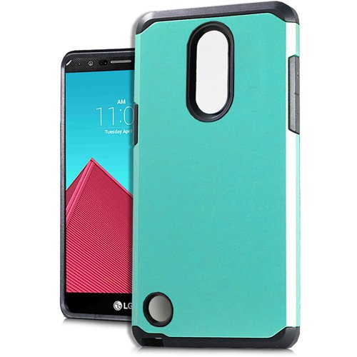 Phone Case for Tracfone LG Rebel 3 Prepaid Smartphone, Rubberized Hard Dual Layer Cover Case (Teal) -  Wireless