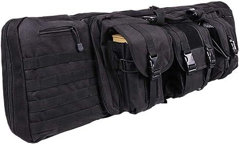 Noir LUVODI Housse de Transport pour 2 Fusils /à Air//Fusils de Chasse Rembour/ée Sac Tactical Double Rifle 91 cm Mallettes pour Arme Longue Protection de R/éplique Airsoft
