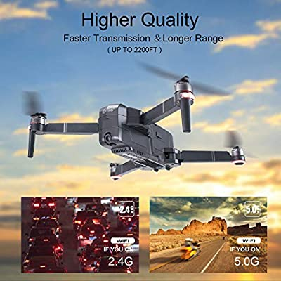 Contixo F24 Foldable Drone| FHD Gimbal Camera FPV Live Video for Adults, GPS RC Quadcopter with Brushless Motor, 5G WiFi, RTH, 30 Minute Flight Time, Selfie for Beginners w/ Backpack