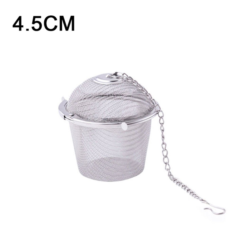 daffodilblob Practical Tea Ball Herbal Spice Strainer Mesh Filter Stainless Steel Infuser for Spices or Loose Leaf Tea 4.5cm