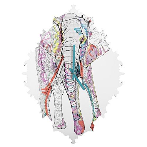 Deny Designs Casey Rogers, Elephant 1, Baroque Clock, Medium by Deny Designs
