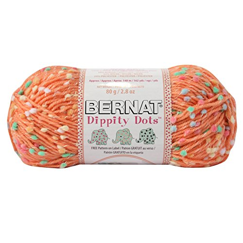 Spinrite Dippity Dots Yarn, Peach