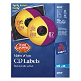 Avery CD Labels, Matte White, 40 Disc Labels and 80 Spine Labels (8692), Office Central