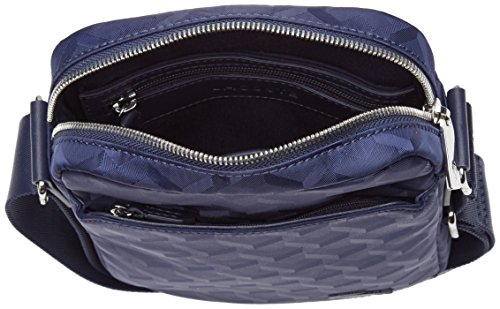 Lacoste NH2113ND, Sac Bandouliere Homme, Blue Jacquard, 22 x 5 x 17.5 cm