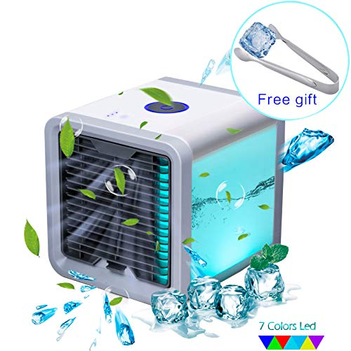 YACHANCE Personal Space air Cooler Portable air Conditioner Fan evaporative Cooler Desk Fan Mini Small ac Unit Cooling Fan Swamp USB Desktop Cooling Fan (White) (White) (Grey)