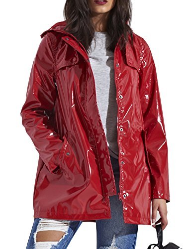 SheLikes - Manteau impermable - Femme Red (347)