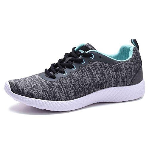 Coodo Lichtgewicht Sneakers Voor Dames Casual Atletische Hardloopschoenen 7-grey / Aquamarijn